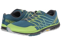 Merrell Bare Access Trail Sea Blue Lime Green Men's Running Shoes