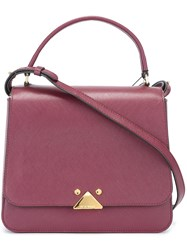 Emporio Armani Top Handle Tote Pink And Purple
