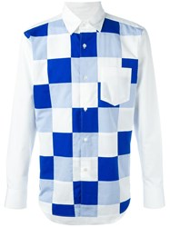 Ganryu Comme Des Garcons Checked Long Sleeve Shirt White