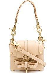 Niels Peeraer Gold Tone Hardware Clutch Nude And Neutrals