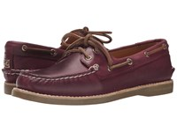 Sperry Gold Cup A O Boat Seasonal Burgundy Women's Lace Up Casual Shoes