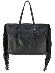 Polo Ralph Lauren Fringed Tote Black