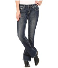 Rock And Roll Cowgirl Rival Low Rise In Dark Vintage W6 5616 Dark Vintage Women's Jeans Navy