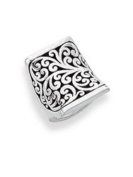 Lois Hill Sterling Silver Filigree Cutout Ring