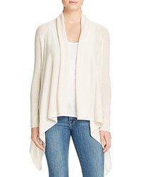 Bloomingdale's C By Basic Open Cashmere Cardigan Snow