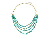 Sam Edelman Layered Nugget Necklace 16 Turquoise Necklace Blue