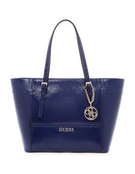 Guess Delaney Small Tote Sapphire