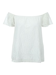 Jane Norman Off The Shoulder Lace Gypsy Top Cream