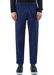 Raf Simons Casual Slim Leg Cotton Pants Blue