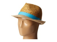 Steve Madden Two Weave Banded Fedora Turquoise Fedora Hats Blue