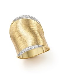 Marco Bicego Diamond Lunaria Large Ring In 18K Yellow Gold