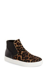 Women's Sam Edelman 'Margot' Calf Hair High Top Sneaker Brown Black Calf Hair