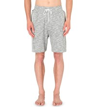 Hugo Boss Marl Effect Cotton Pyjama Shorts Grey White
