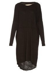 Raquel Allegra Jersey Slouchy T Shirt Dress Black