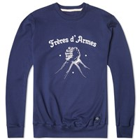 Bleu De Paname Brothers In Arms Crew Sweat Blue