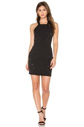 Greylin Lani Grommet Halter Dress Black