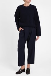 Acne Studios Milica Wost Trousers Navy
