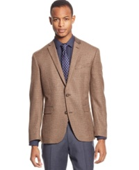 Bar Iii Carnaby Collection Houndstooth Corduroy Chesterfield Slim Fit Sport Coat Brown