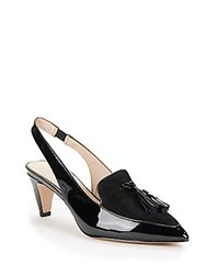 French Connection Leather Slingback Sandals Black