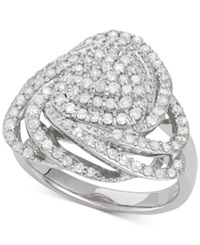 Wrapped In Love Diamond Triangle Ring 1 Ct. T.W. In Sterling Silver