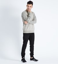 Hall Of Fame Heather Grey Tech 3M Dots Crewneck