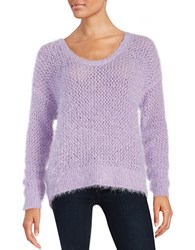 Dkny Eyelash Knit Sweater Lilac Hazel