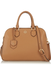 Tory Burch Robinson Textured Leather Tote Light Brown