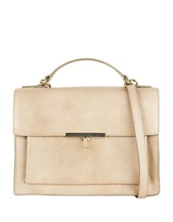 Cole Haan Mazie Leather Crossbody Bag Taupe