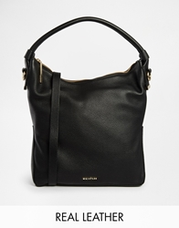 Whistles Leather Hobo Bag Black