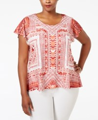 Styleandco. Style And Co. Plus Size Cap Sleeve Crocheted Overlay Blouse Only At Macy's A Message Combo