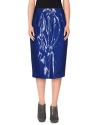 Marc By Marc Jacobs Knee Length Skirts Blue