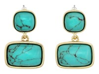 Lauren Ralph Lauren Treasure Trove Stone Double Earrings Turquoise Gold Earring Blue