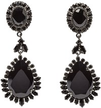 Givenchy Black Victorian Chandelier Clip On Earrings
