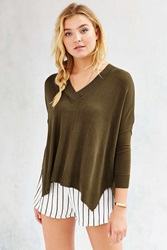 Pins And Needles Pins Needles Fine Gauge Miles V Neck Top Green