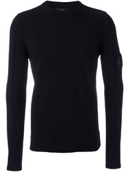 Stone Island Shadow Project Crew Neck Jumper Blue