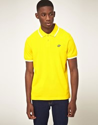 Boxfresh Tipped Polo Shirt Yellow