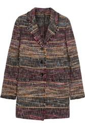 Etro Tweed Coat Purple