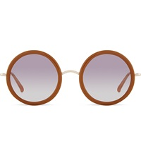 The Row Row833 Signature Rounded Sunglasses Honey White