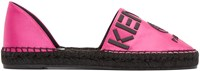 Kenzo Pink Logo Cut Out Espadrilles