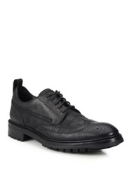 Rag And Bone Spencer Pebbled Leather Derby Shoes Black
