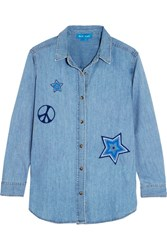 Mih Jeans M.I.H Embroidered Denim Shirt Mid Denim