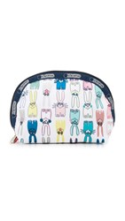 Le Sport Sac Peter Jensen X Lesportsac Medium Dome Cosmetic Pouch Coloring Book Rabbits