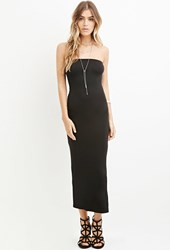 Forever 21 Strapless Bodycon Dress Black