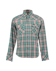 Marlboro Classics Long Sleeve Shirts Green