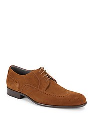 Hugo Boss Bosion Suede Oxfords Medium Brown