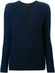 Theory V Neck Sweater Blue