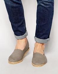 Asos Canvas Espadrilles Grey