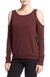 Rebecca Minkoff Women's 'Bunny' Grommet Cold Shoulder Tee