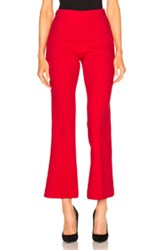 Giambattista Valli Cropped Crepe Trousers In Red