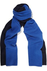 Magaschoni Two Tone Cashmere Scarf Midnight Blue